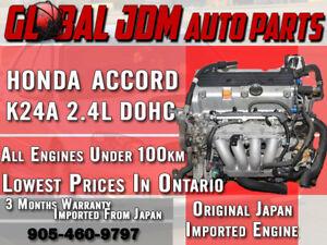 JDM 03-07 Honda Acura TSX K24A 2.4L DOHC i-VTEC Engine K24A