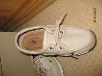 Rugged Shark leather deck shoes