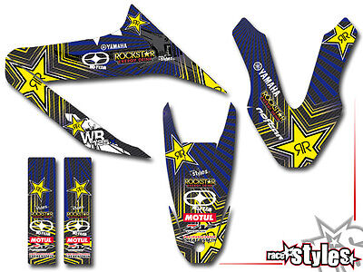 YAMAHA WR 125 R / 125 X FULL BRAAAP !!! PREMIUM DEKOR DECAL STICKER KIT 09-2017