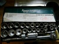 Kamasa 27pc socket set 3/4 inch square driver AF/MM Stock No. 4985 £130 ONO Doncaster / North Wirral