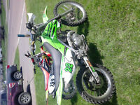 2008 KLX140 and 2004 CRF70