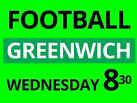 Do you want to play friendly football game at Greenwich? We need extra players!