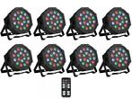 Ibiza Light 8x 18W RGB LED PAR spots 3-in-1 wash effect DMX