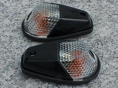 Suzuki GSXR600 GSXR 250 600 750 1000 1100 Black/Clear FLUSH-MOUNT TURN SIGNALS (Gsxr Turn Signals)