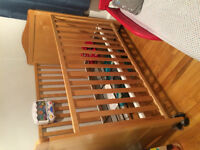 Baby crib, changing table, rocking chair and toddlers baby bed