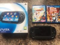 Ps vita with 2 games in perfect unmarked condition