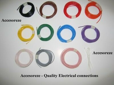 1.0mm sq Thinwall Thin wall Automotive Loom Cable Wire 16A, per 5 metres (multi)