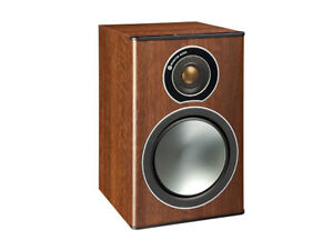 Monitor Audio - Bronze 1 speakers in walnut....2yrs. old perfect
