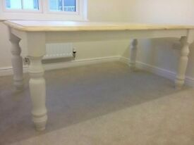 Cottage Style White Wooden Top Dining Table