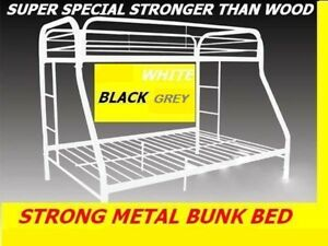 TWIN/TWIN,TWIN/ DOUBLE  STRONG METAL BUNK BED ON CLEARANCE