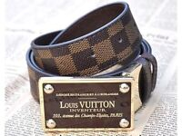**LOUIS VUITTON LV INVENTEUR DAMIER BELT**