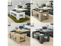 Bethany Lift Up Coffee Table With Storage and Shelf CG