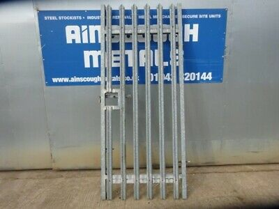 Second Hand 1.000mtr Wide  2.400mtr High Galvanised Palisade 'w' Triple Point to