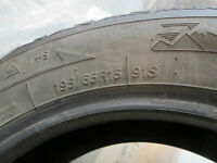 """Winter tire 15"""", Used in Chevrolet Cobalt- 2 seasons only"""