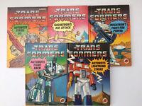 VINTAGE 1985 LADYBIRD 1st EDITION TRANSFORMERS BOOKS x5