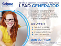 New Hourly Rate! English Telesales Rep ($15/hr plus commission)