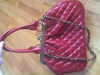 Red tote handbag Marc Jacobs quilted