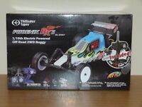 THUNDER TIGER PHOENIX BXII, 2 BRAND NEW BATTERY PACKS & CHARGER, NEW SPARE REAR WHEELS,TYRES,EXTRAS