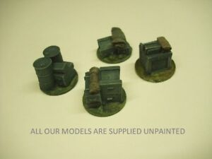 Wargames scenery. 4 Jump off or objective markers 1/56 scale for 28mm (822)