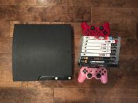 Playstation 3 - 9 jeux & 2 manettes
