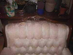 FRENCH PROVINCIAL CHAIR - NEEDS SOME WORK