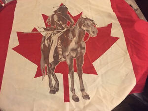 Canada flag with native on it