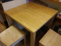 IKEA NORDEN solid light wood table