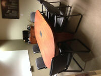 Boardroom Table Chairs and Cabinet