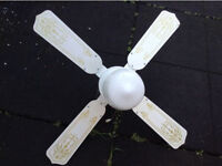White Ceiling fan with Central light and elegant design print for bargain price of £20