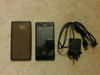 Sony M2 8GB Black + Charger, USB, Case & screen protector Sony D2303 (Locked to EE) - WILL POST