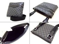 **LOUIS VUITTON DAMIER Graphite Messenger Side Thomas Pouch Bag**