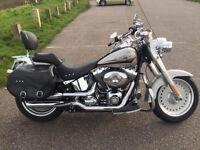 Harley Davidson Fatboy 2008. 1584cc silver. Lots of extras.