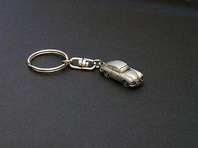 Porsche 356, 356A 356B 356C, 1:145 scale pewter keychain