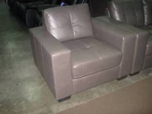 Grey bonded leather chairs, about 8 left, NEW in boxes, COMFY