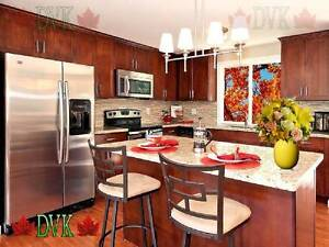 Red Shaker Parawood kitchen cabinet on sale