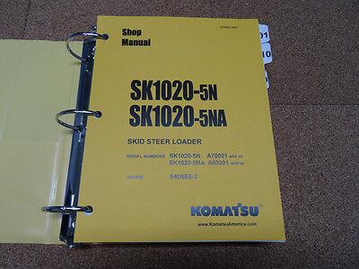 Komatsu Sk1020-5n Sk1020-5na Skid-steer Loader Service Shop Repair Manual