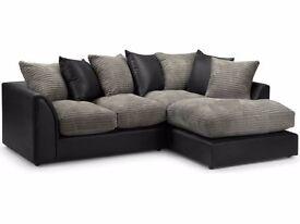 """""Black grey, Brown Beige"""" Brand New Byron 3 And 2 sofa or corner sofa in jumbo cord fabric"