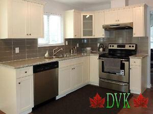 Kitchen bathroom Cabinets - DVK Shaker Ivory & White Chearance