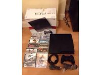 Sony PS3 SLIM console plus 10 games - £85