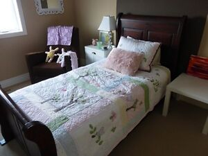 Solid Wood Twin Sleigh Bed