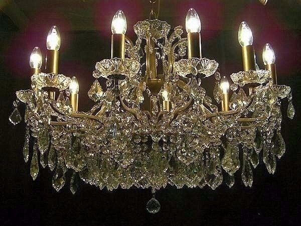 ABSOLUTELY STUNNING 3 FOOT WIDE LEAD CRYSTAL CHANDELIER | in ...