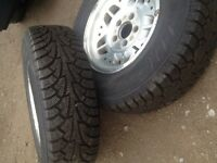 4 brand new snow tires on 5x4.5 rims, MUST GO TODAY!