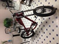 Red west coast chopper bicycle