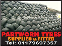 Part Worn Tyres, Second Hand Tyres, Supplied And Fitted (from 20)