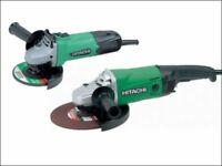 Hitachi Angle Grinder Twin Pack 4 1/2 in + 9in 240