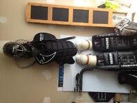 Used set of complete adult goalie gear
