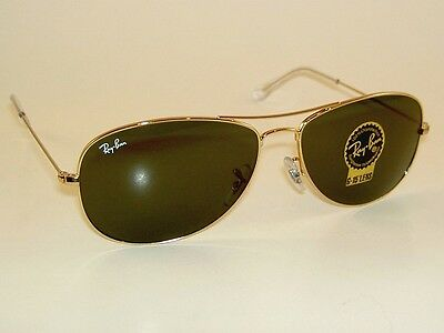 New RAY BAN Sunglasses COCKPIT RB 3362 001 Gold Frame G-15 Glass Lenses (Ray Ban Cockpit 56mm)