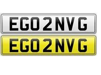 EGO 2 ENVY G - PRIVATE NUMBER PLATE UNIQUE EXCLUSIVE BMW AUDI MERCEDES VW HONDA TOYOTA VAUXHALL