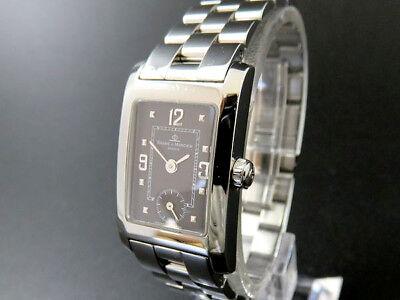 BAUME & MERCIER HAMPTON MV045139 Small Seconds St.Steel Quartz Watch Black Dial
