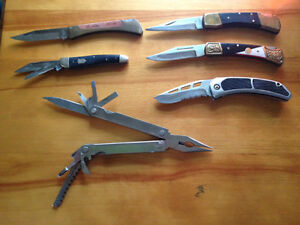 Collection of 6 pocket knives